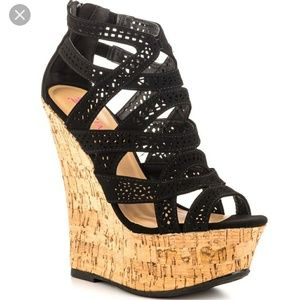 JustFab Mayleen Black Women Shoes